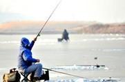 冬季北方水库红虫冰钓大鱼