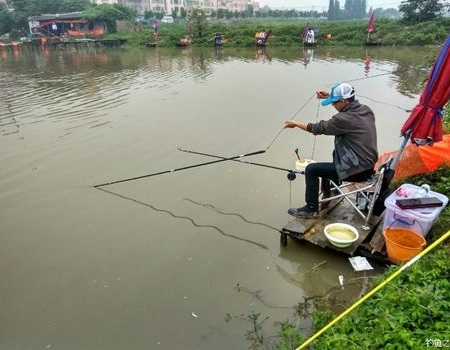 狂风暴雨战大非,那种感觉不要不要的。 自制饵料钓罗非鱼
