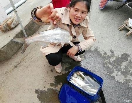 老婆终于被我拉下水了,以后成功多一个钓友 蚯蚓饵料钓鲫鱼
