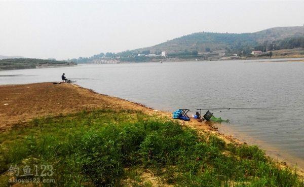 夏季水库钓鱼