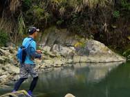《蓝旗鱼路亚》福州溯溪 上游流急,小深潭里居然有将军鱼