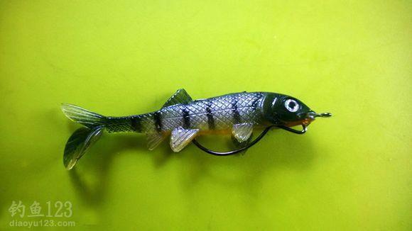 鱼形的假饵,鱼口不好的时候很好用。
