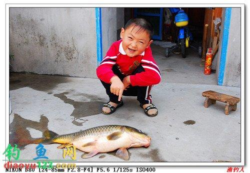 在水库钓的9.3斤大鲤鱼