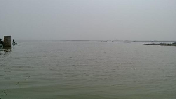 水库钓鲤鱼