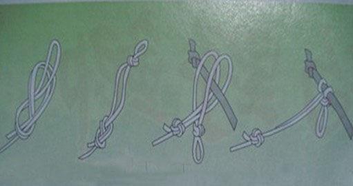 主线与竿稍连接方法