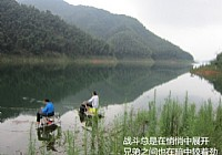 龙源水库钓大鱼忘带抄网下水用渔护网鱼